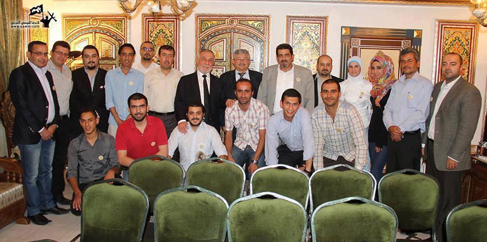 هؤلاء زاروا السفير السوري بعمان لتهنئته بسقوط القصير
