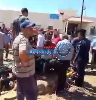 """بالفيديو  ..  استنفار أمني بعد تعرض أشخاص للسقوط داخل """"بئر مياه"""" في إربد"""
