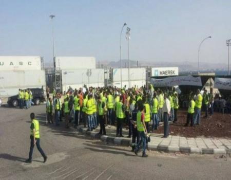 إنهاء اضراب عمال ميناء حاويات العقبة