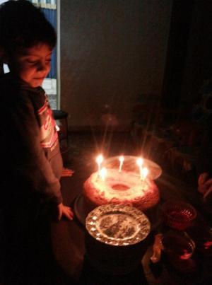"""عيد ميلاد سعيد للطفلين """"حسين و بانا""""عبيدات"""