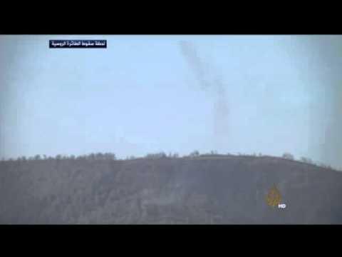 بالفيديو .. لحظة اسقاط مقاتلة روسية فوق الاراضي التركية