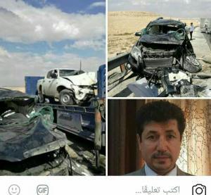 بالصور ..  وفاة الدكتور محمود عوده الخالدي اثر حادث مروع على اوتستراد المفرق الزرقاء