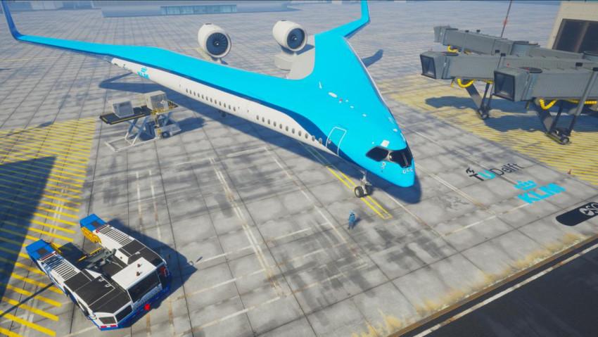 بالصور ..  طائرة المستقبل ستحمل الركاب في اجنحتها!