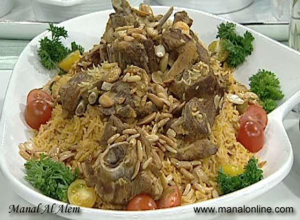 أطباقك السعودية الشهية ..  طبق الأرز الكابلي باللحم