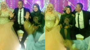 مفاجآة جديدة  ..  السيدة التي حضرت زفاف زوجها تخرج عن صمتها و تتحدث عن سبب حضورها الحفلة