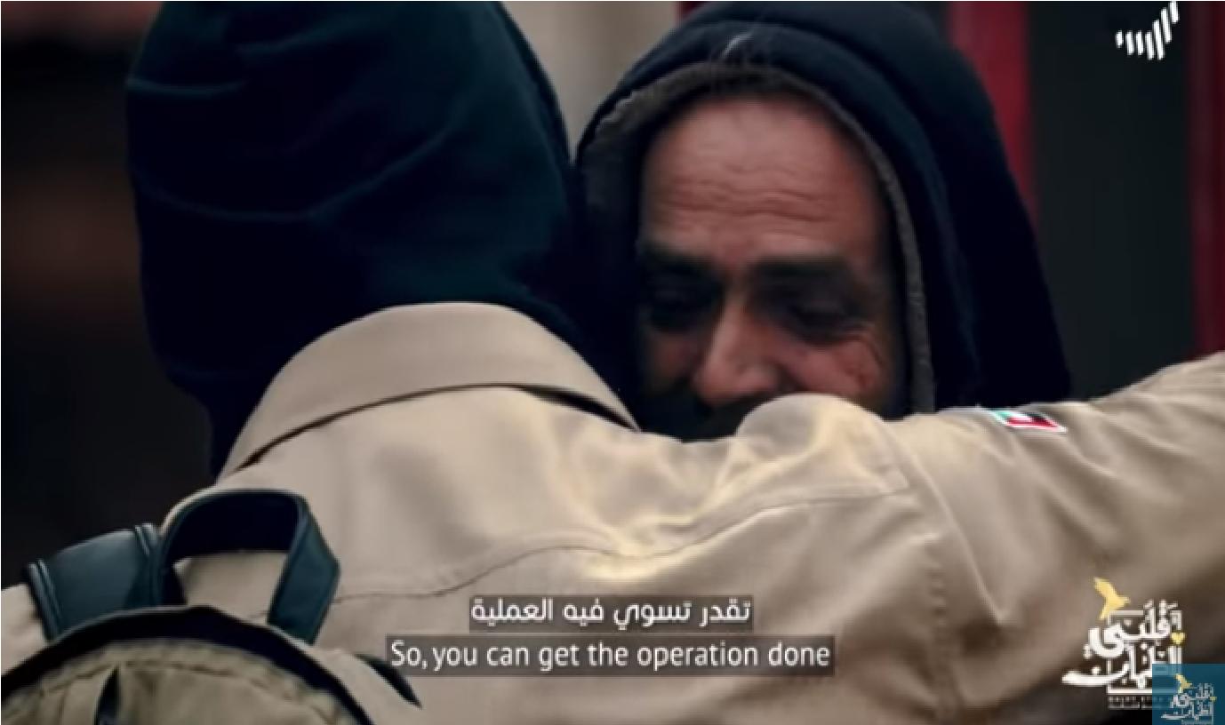 """بالفيديو  ..  """"غيث"""" من الأردن يتكفل بعلاج فتاة مصابة بالسرطان و يمسح دموع والدها في """"قلبي اطمأن""""  ..  لقطات مؤثرة"""