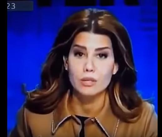 بالفيديو  ..  بولا توجه رسالة للحريري ثم تستقيل على الهواء مباشرة