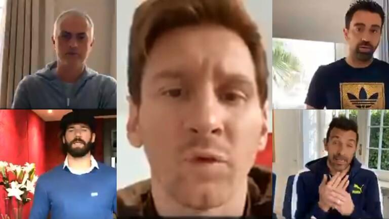 بالفيديو .. 28 نجما بكرة القدم في حملة لمكافحة كورونا