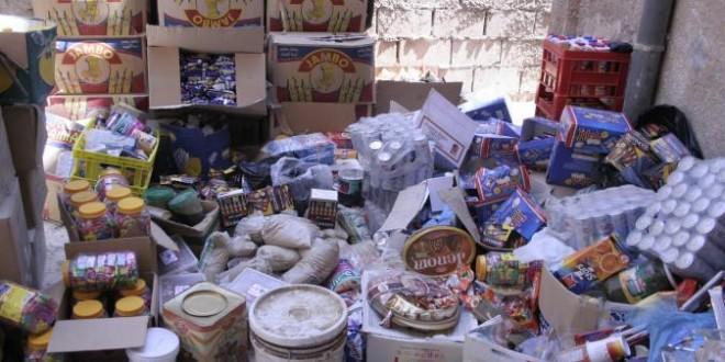 ضبط مواد غذائية فاسدة في محال تجارية بالسلط