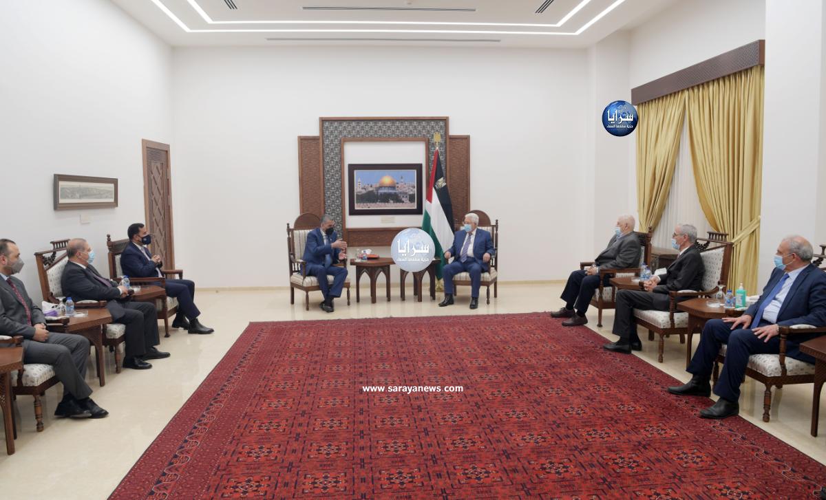 """بعد تصريحاته: """"دول عربية طلبت تجربة الأردن في إدارة الانتخابات  ..  """"الكلالدة"""" يلتقي الرئيس الفلسطيني """"محمود عباس"""""""