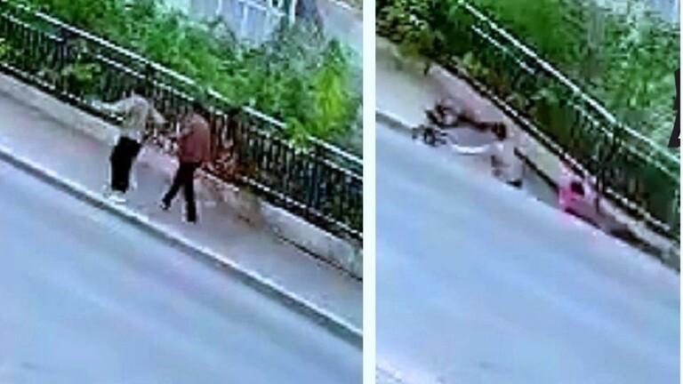 فيديو صادم ..  لحظة انشقاق الأرض وابتلاعها امرأتين على الطريق وسماع صراخ مدو