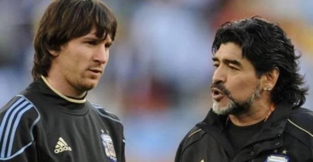 """مارادونا يهاجم ميسي: """"يذهب للحمام 20 مرة قبل المباراة""""!"""