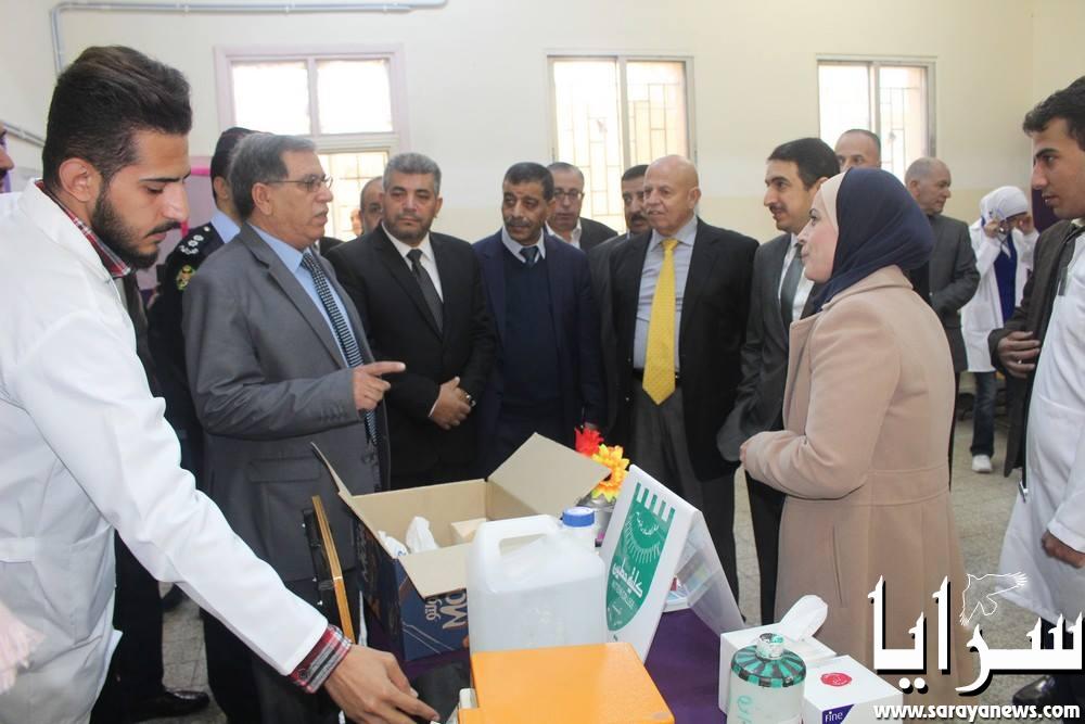 بالصور  ..  يوم طبي مجاني في مدرسة الملكه زين الشرف الثانويه للبنات