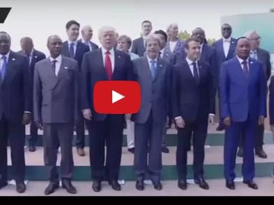 بالفيديو .. ترامب يحرج المستشارة الالمانية انجيلا ميركل بموقف غريب