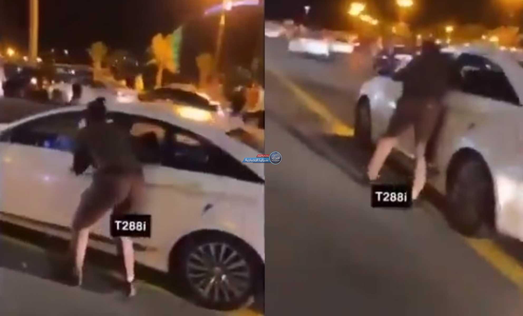 بالفيديو  ..  القبض على مقيم حاول دهس رجل أمن في السعودية