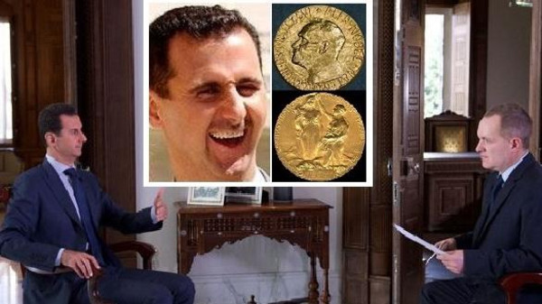 بالفيديو  ..  بشار الاسد يسخر ضاحكاً من دور منظمات الإغاثة الانسانية في سوريا