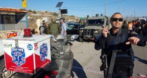 بالصور.. 6 اصابات بينها خطيرة في عملية دهس لجنود الإحتلال الصهيوني في الخليل