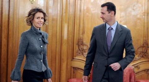 طلاق بشار الأسد زوجته أسماء