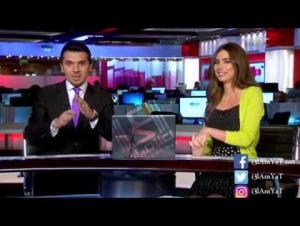 بالفيديو .. مذيعة جريئة تطلب من زميلها بقناة mbc طلباً غريباً على الهواء