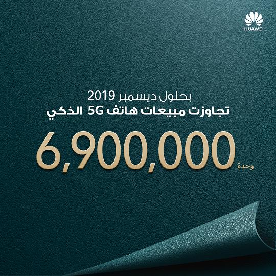 مقدمةً بذلك اتصال الجيل القادم للعالم هواوي تشحن 6.9 مليون هاتف ذكي مدعوم بتقنية شبكة الجيل الخامس (5G) في عام 2019