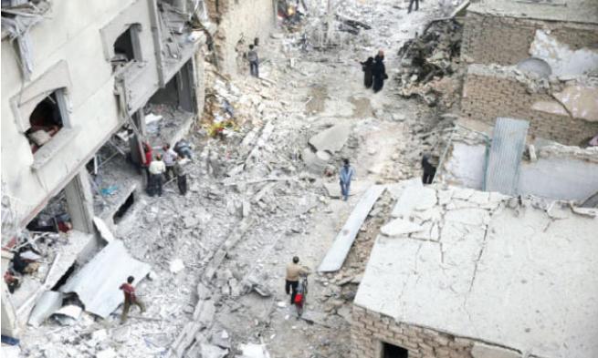 سورية: مقتل 23 شخصا بينهم 6 أطفال بغارات على دوما