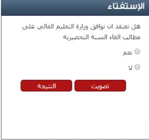 استفتاء سرايا: 59.41 من متابعي سرايا لا يتوقعون إلغاء السنة التحضيرية للجامعات