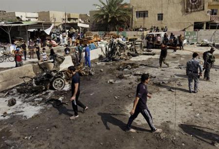 50 قتيلا في ثمانية اعتداءات بسيارات مفخخة في بغداد