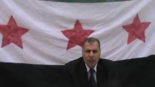 انشقاق رئيس فرع المخابرات الخارجية  السوري .. شاهد الفيديو