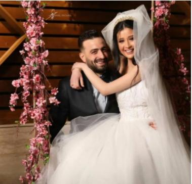 شاهد بالصور  ..  ربى السعدي في حفل زفافها بفستان ناعم جداً وإطلالة ساحرة