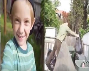 بالفيديو.. نهاية غير متوقعة لطفل حاول تنفيذ مقلب بوالده