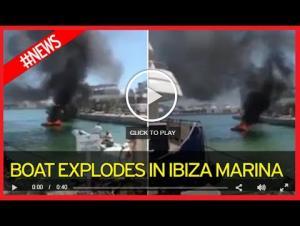 بالفيديو.. قارب ينفجر ويقذف ركابه إلى المياه
