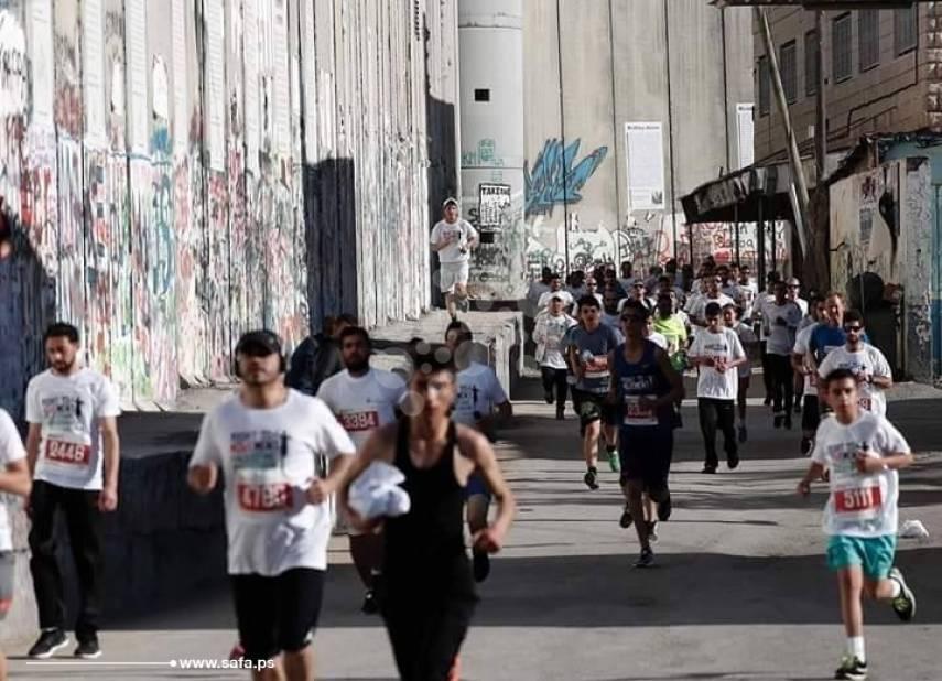 انطلاق ماراثون فلسطين الدولي السابع في بيت لحم