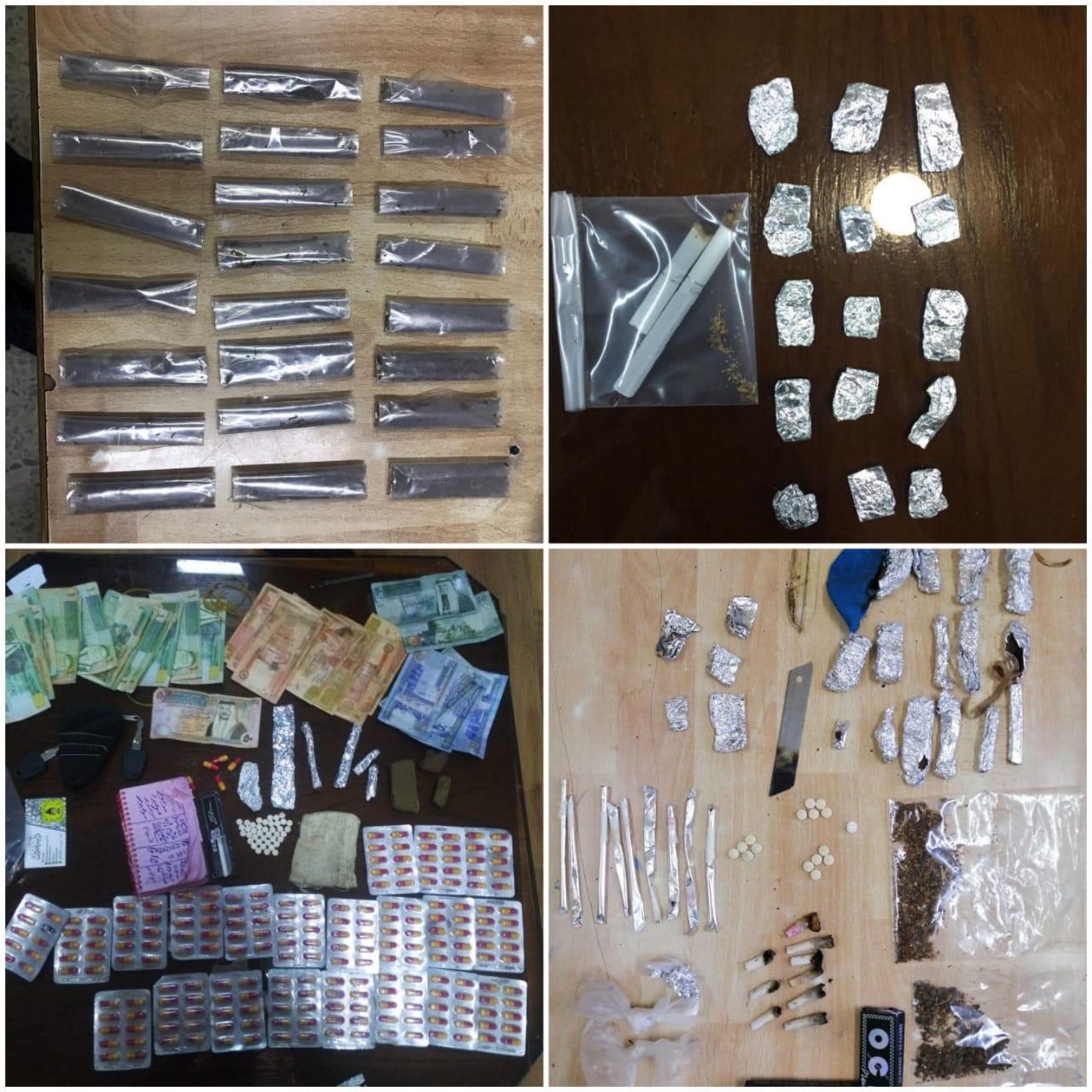 القبض على (16) مروجاً  للمخدرات بحوزتهم  (5)  أسلحة نارية و كميات كبيرة من المواد المخدرة  - صور