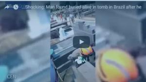 بالفيديو: لحظة العثور على رجل دفن حياً