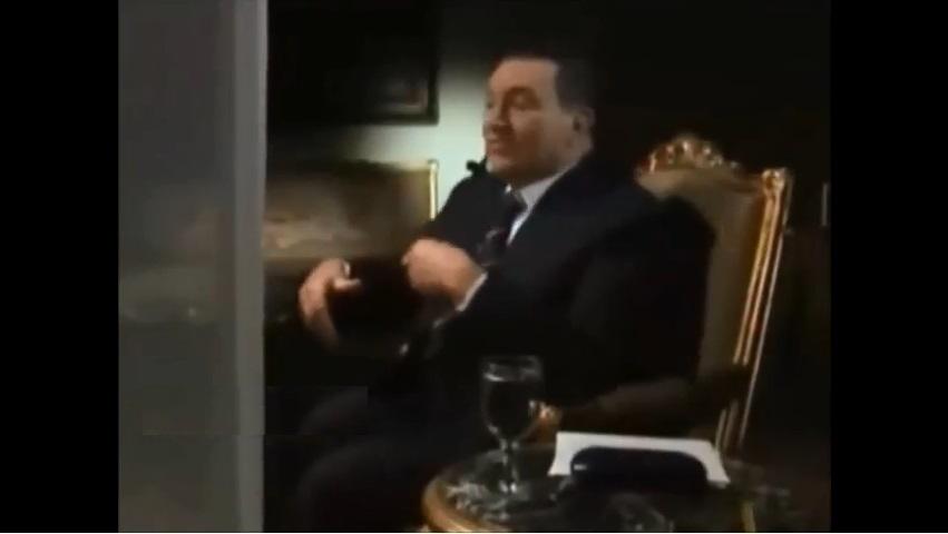 """بالفيديو  ..  حسني مبارك يكشف عن """"أكبر كارثة"""" واجهته"""