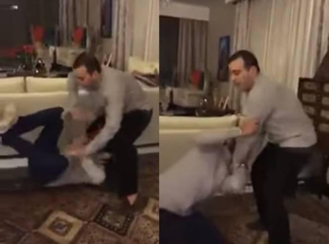 الفنان المصري أحمد السقا يعتدي بالضرب على أحمد فهمي!