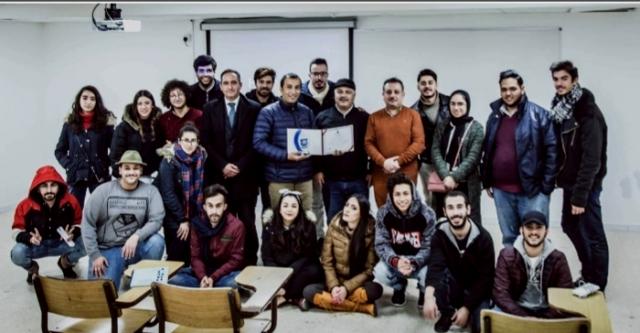 ورشة عمل في جامعة عمان الاهلية بعنوان :صناعة الافلام السينمائية بالموبايل