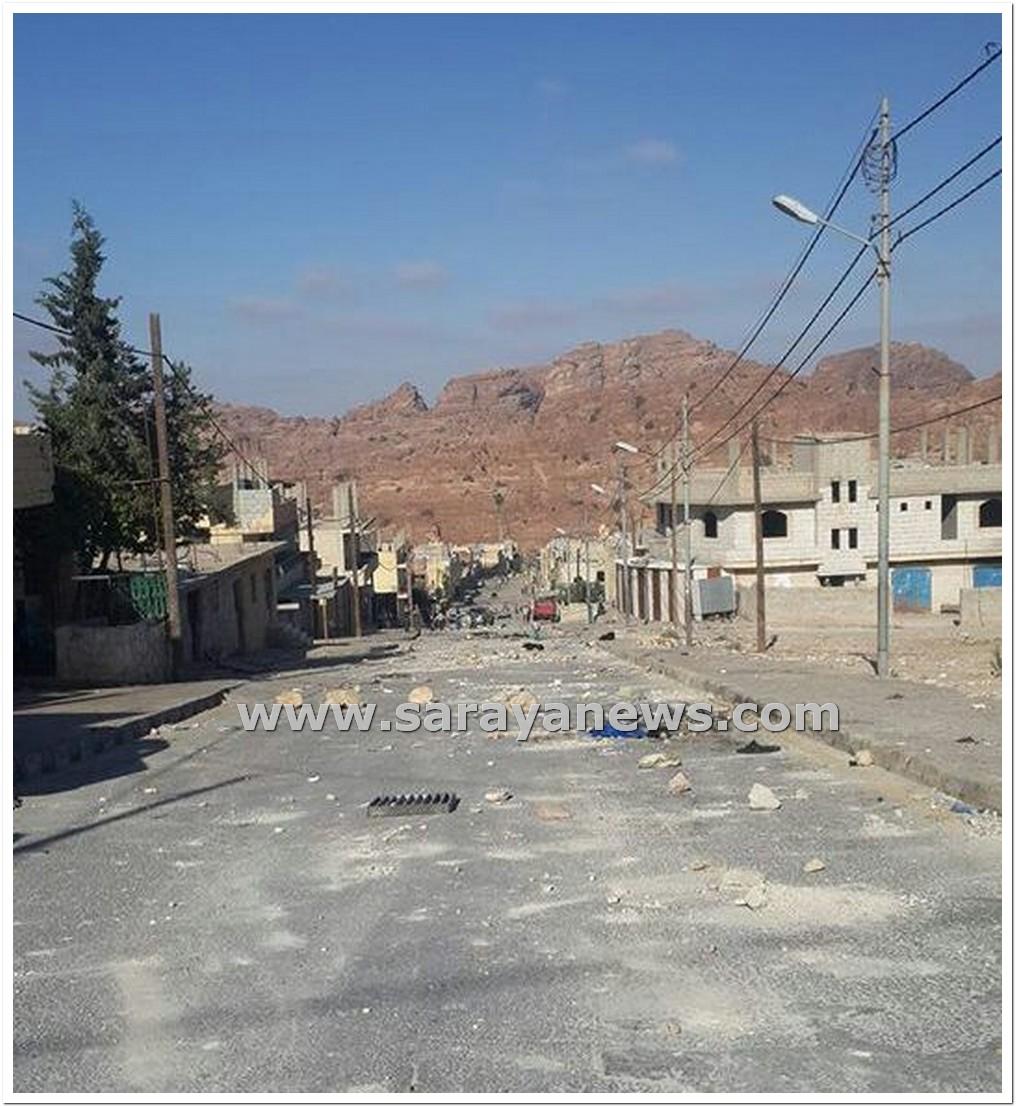 هدوء مشوب بالحذر في قرية أم  صيحون بالبترا عقب الاحتجاجات التي شهدتها