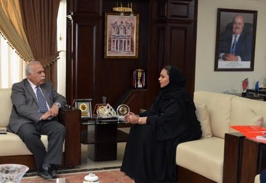 جامعة عمان الأهلية تستقبل المستشار الثقافي البحريني