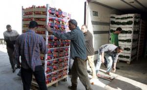 توزيع شاحنة خضار  وفواكه على المناطق المعزولة في اربد
