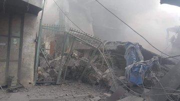 """بالصور و الفيديو  ..  غزة تستيقظ على خبر """"مفجع"""" ثالث أيام العيد بوقوع انفجار ضخم و استشهاد """"الشاب عطا ساق الله"""""""