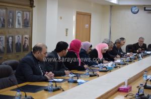 بالصور ..  اللجنة المالية تجتمع لمناقشة مشروع قانون الموازنة العامة مع  وزارة العدل