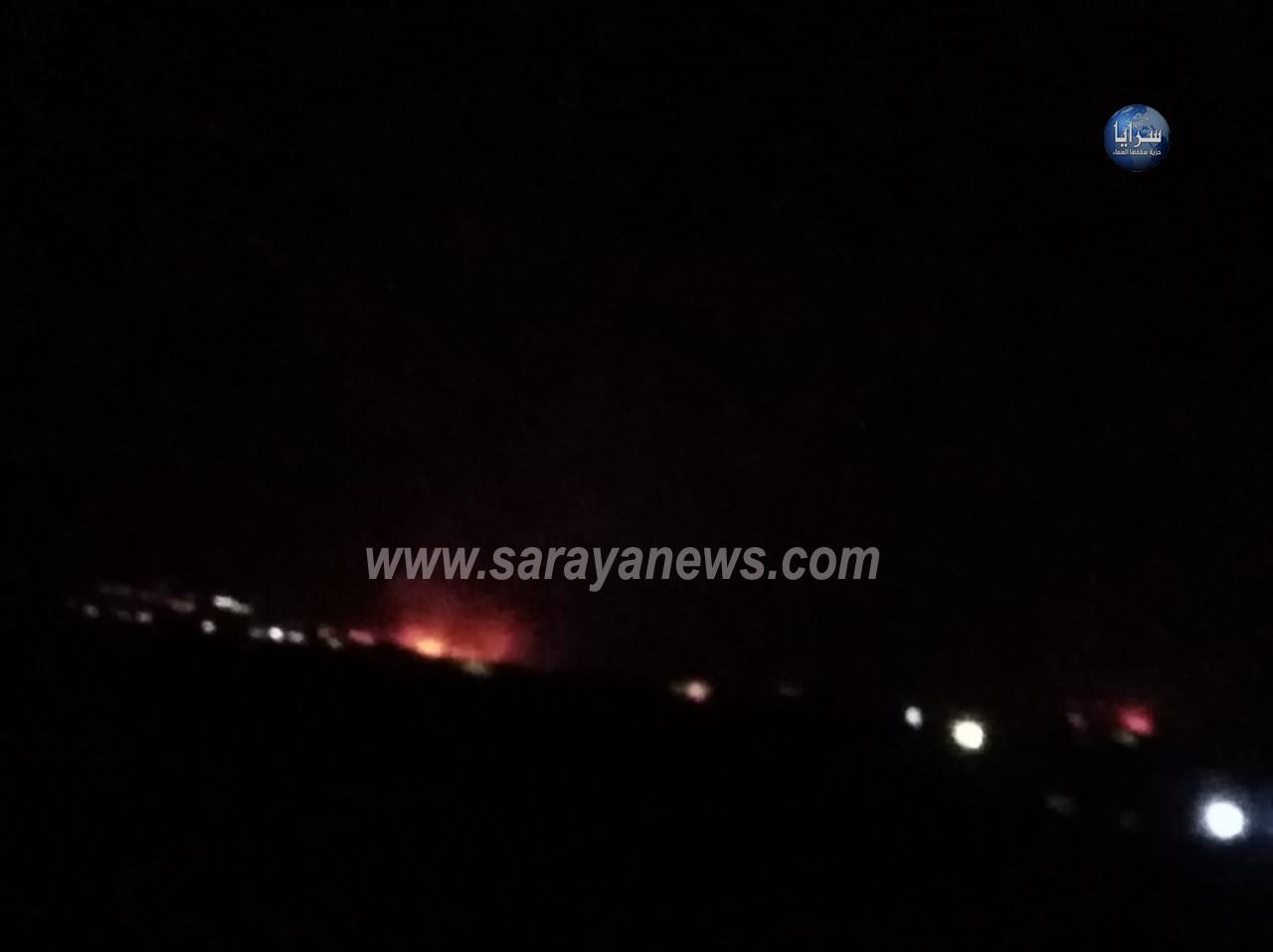 حرائق كبيرة تمتد من الأراضي المحتلة إلى الأراضي الأردنية  .. صور