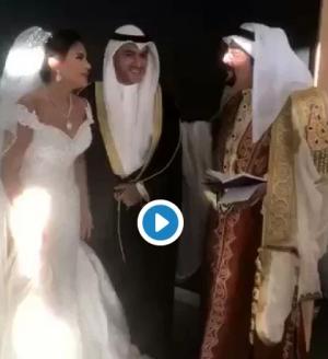 بالفيديو .. زواج بيبي عبدالمحسن يثير ضجة بالكويت