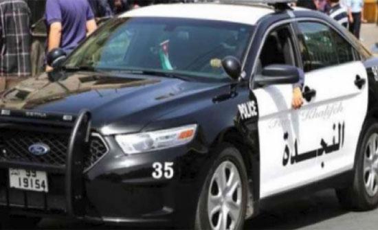 سائق مركبة مسن يدهس طاقم دورية على شارع الاردن