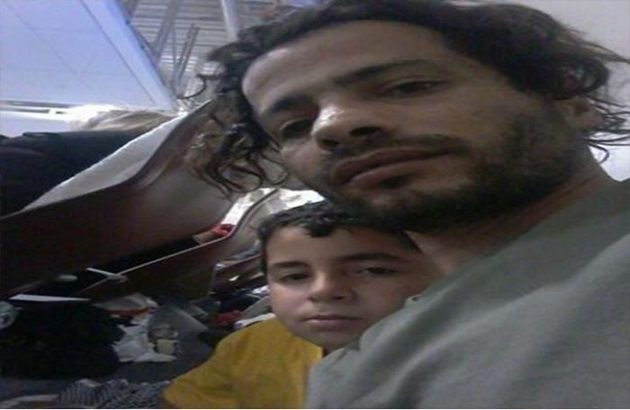 فلسطيني مخيم اليرموك يعيش ابنه