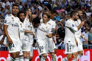 بالصور ..  ريال مدريد يحرق مرمى روما 3 مرات