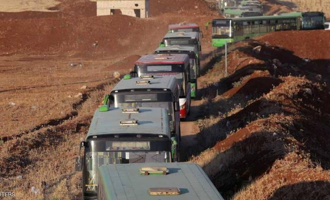 سورية: انتهاء إجلاء سكان بلدتي الفوعة وكفريا
