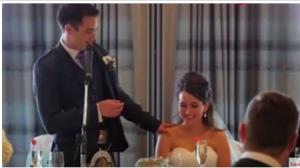 فيديو : مفاجأة مدهشة من شاب لعروسه يوم زفافهما..