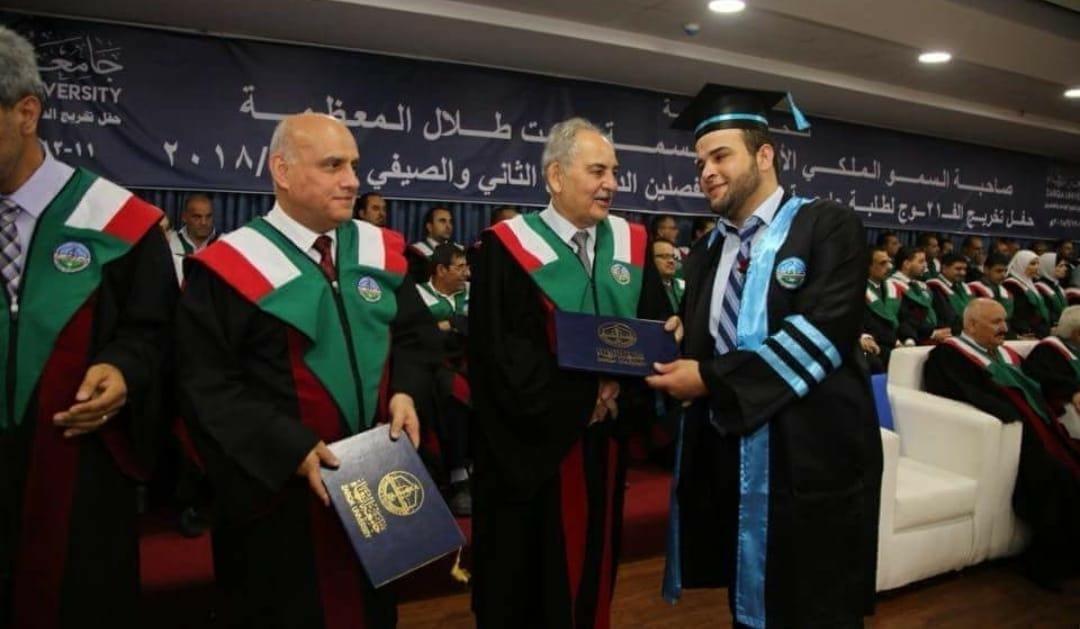 الزميل علاء الذيب .. مبارك التخرج